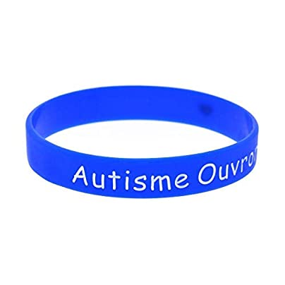 Relddd Silicone Wristbands With Sayings Autisme Ouvrons Notre Love Silicone Bracelets For Kids Motivation Set Pieces Estimated Price £25.99 -