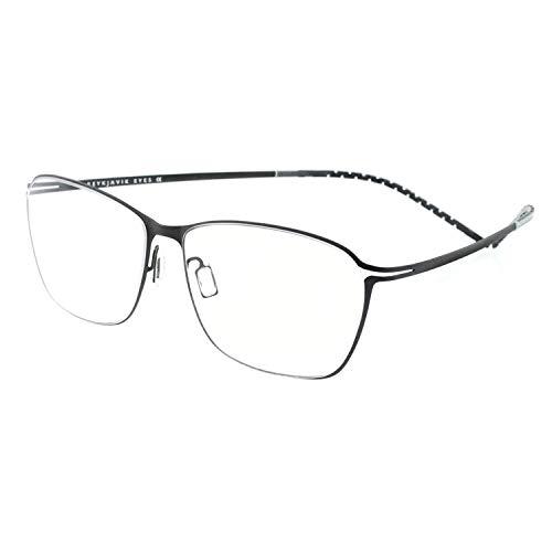 - OCCI CHIARI Titanium Men Rectangular Rimless Eyewear Frames Lightweight with Optical Clear Lens 56mm (Silver)
