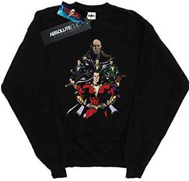 Absolute Cult DC Comics Herren Shazam Team Up Sweatshirt Schwarz XXXXX-Large