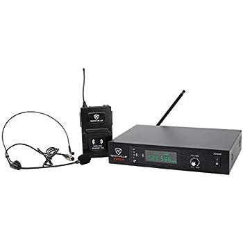 rockville professional uhf headset guitar wireless microphone system single. Black Bedroom Furniture Sets. Home Design Ideas