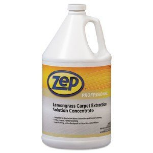 Zep Professional R00624 Carpet Extraction Solution Concentrate, Lemongrass Fragrance, Clear/Light Amber (Case of 4 Gallons)