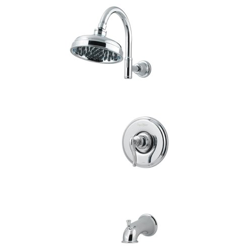 andle Tub & Shower Faucet, Polished Chrome ()