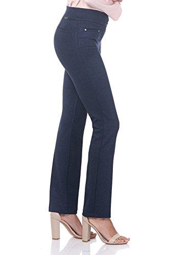 Rekucci Women's Secret Figure Pull-On Knit Straight Pant w/Tummy Control