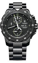 Victorinox Swiss Army Alpnach Automatic Chronograph - Black Dial - PVD Bracelet