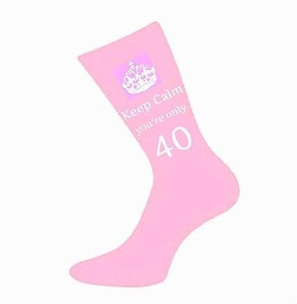 Señoras iposters sólo 40 rosa calcetines 40 con mensaje en regalo de la novedad para mamá