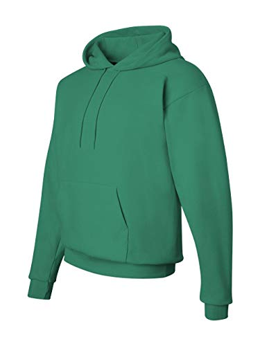 Green Polyester Kelly - Hanes Men's Pullover EcoSmart Fleece Hooded Sweatshirt, Kelly Green, Medium