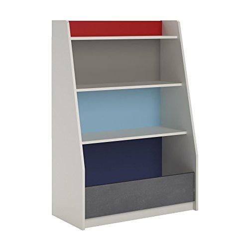 Ameriwood Home Kaleidoscope Storage Bookcase, Classic