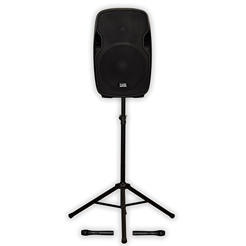 """Acoustic Audio AA154UB Active 1400W 15"""" Bluetooth Battery Speaker with Wireless Mics and Stand AA154UB-PK1"""