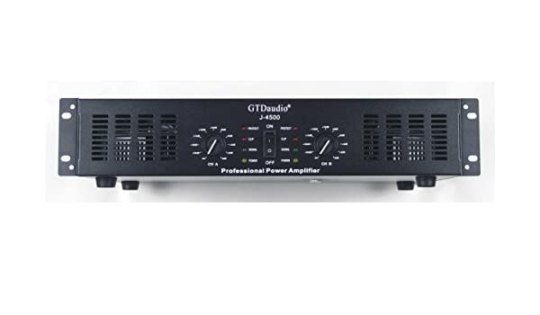 GTD Audio 2 Channel 4500 Watts 2U Stereo Professional Power Amplifier Amp J4500