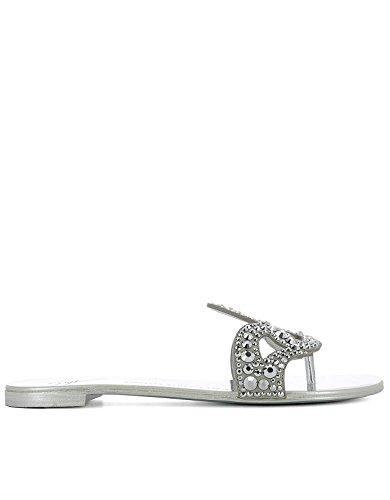 Zanotti Mujer Cuero Sandalias Design Plata E70026002 Giuseppe pqx8wRPdR