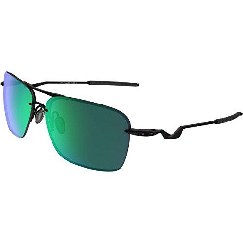 Oakley Mens Tailback Sunglasses, Satin Black/Jade Iridium, One ()