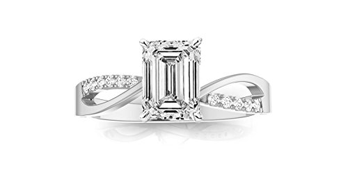 0.78 Ct Emerald Cut Diamond - 7