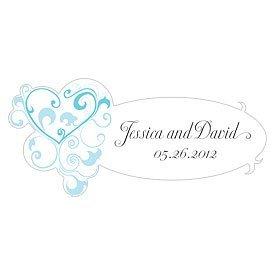 Weddingstar 1037-17-c29 Heart Filigree Small Cling- Aqua Blu