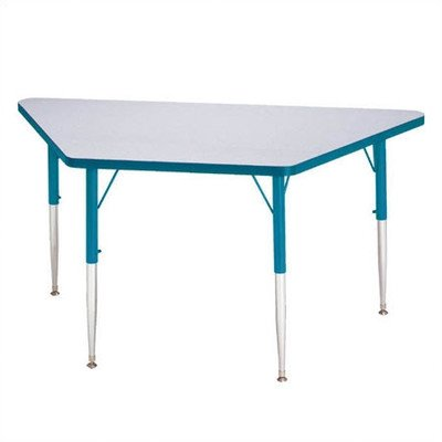 Rainbow Accents Trapezoid Kydz Activity Table w Laminate Top (30 in. W x 60 in. L x 24 - 31 in. H - Blue)