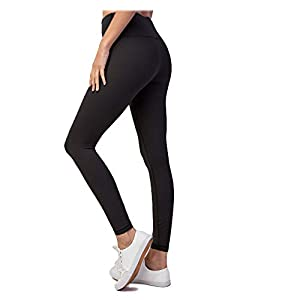 HYKEE High Waist Tummy Control Buttery Soft Non-See-Through 4-Way Stretch Leggings