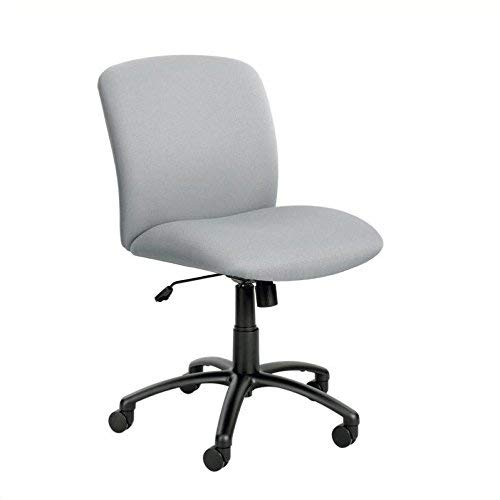 Safco Products Uber Big and Tall Mid Back Chair 3491GR, Grey, Rated for 24/7 Use, Holds up to 500 lbs. (Optional arms Sold Separately)