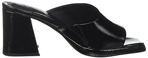 Crinkle Aperta Campbell Black Punta 001 Donna Jeffrey Leather Nero suzuci Sandali 8 gqzUq