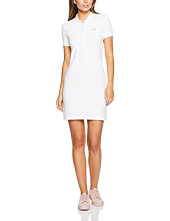 Lacoste Women's Basic Polo Dress, White,38F (Standard)