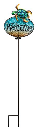 Regal Art & Gift 11649 Welcome Stake Solar Light Garden Decor, Sea Turtle