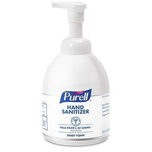 Foam 8 Oz Bottle - PURELL SF607 Alcohol-Free Foam Hand Sanitizer, Fragrance Free, 535 mL Sanitizer Counter Top Pump Bottle - 5784-04