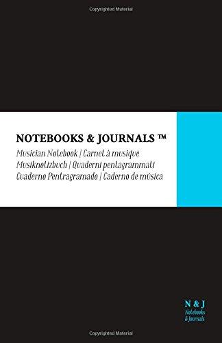 Quaderni Pentagrammati Notebooks & Journals, Large, Nero, Soft Cover: (13.97 x 21.59 cm)(Quaderni Musica, Pentagrama, Taccuino Musica) Copertina flessibile – 25 ott 2016 Notebooks and Journals 1539728862