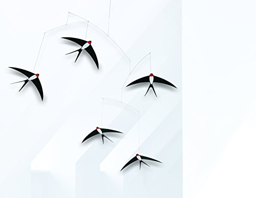 Review 5 Flying Swallows Hanging