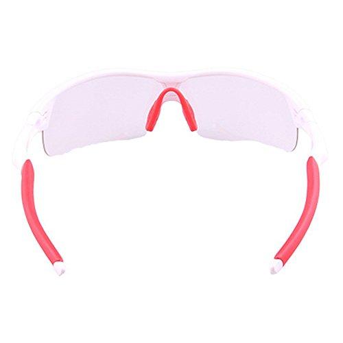 Gafas Montar Sol De LBY Bicicleta Aire para Sol De Montaña de Hombre De Color Red Al Blanco Cortavientos Descolorido Gafas Deportes De Libre Gafas Gafas HrwqET6txw