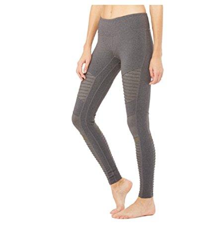 Alo Yoga Women's Moto Legging, Stormy Heather/Stormy Heather, M by Alo Yoga (Image #1)