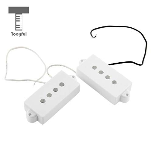DDV-US - 2PCS Guitar Neck Bridge Humbucker Pickup for 4-string P BASS Guitar (Humbucker Rhythm)