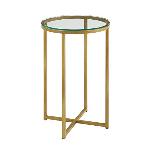 Walker Edison Furniture Company Round Side Table