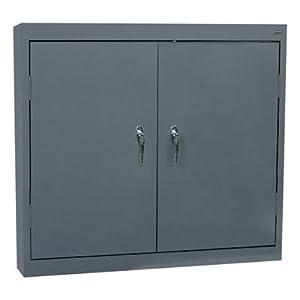 Amazon.com: Sandusky Lee Welded Steel Wall Cabinet - Solid Doors ...