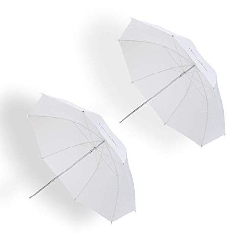 UNPLUGGED STUDIO (2pack) 33inch Translucent Umbrella (Fiberglass Rib) UN-050
