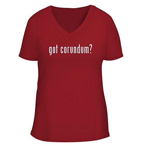 BH Cool Designs got Corundum? - Cute Women's V Neck Graphic Tee, Red, XX-Large
