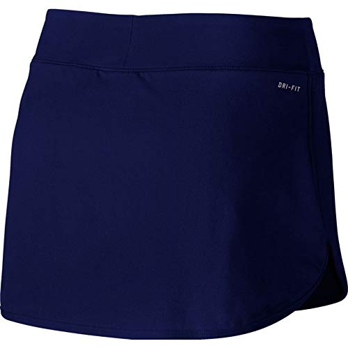 Nike Women's Court Pure Tennis Skirt Blue Void/White Small 2 by Nike (Image #1)
