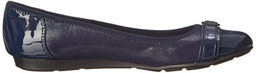 Anne Klein Sport Womens Able Fabric Ballet Flat, Navy, 10.5 M US
