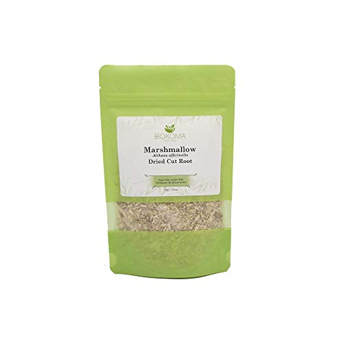 100% Pure and Natural Biokoma Marshmallow Dried Cut Root 50g (1.76oz) in Resealable Moisture Proof Pouch