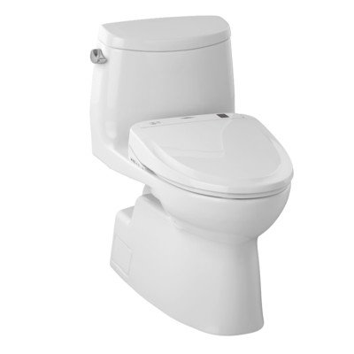 Toto Mw614584cefg 01 Carlyle Ii Connect Plus Toilet  1 28 Gpf With Washlet S350e  Cotton