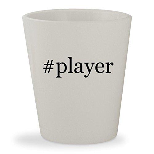 #player - White Hashtag Ceramic 1.5oz Shot Glass (Mp3 Player Sigo)