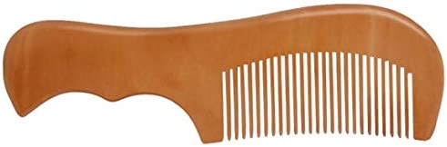 Tivollyff くしナチュラルヘルスケアピーチウッドくしパターン彫刻マッサージくしソフトヘアウッドくし家庭用カスタマイズ