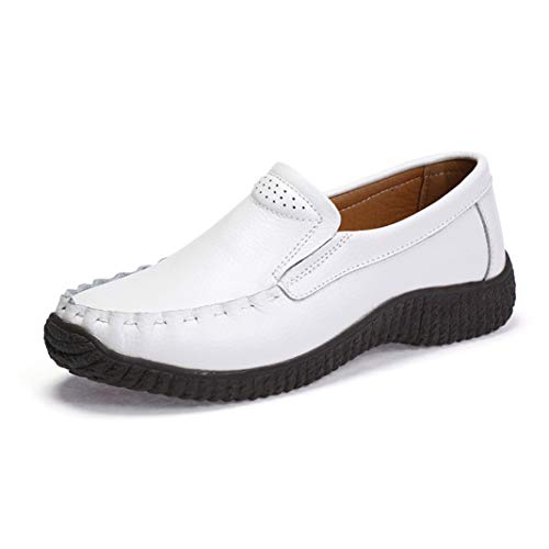6db04718d81c5 StarttWin Women Penny Loafer Shoes Round Toe Slip on Pu Leather Comfortable  Non Slip Outdoor Flats