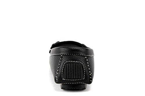 Mens M1040-10 Bestuurder Mocassin Casual Loafers Drijfschoenen Zwart
