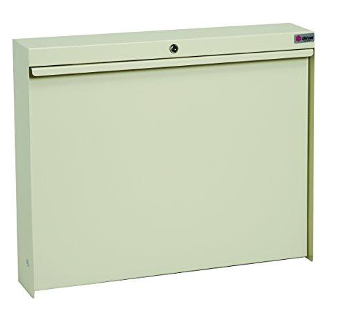 Datum Storage WW-100-T56 WallWrite Fold up Desk With Standard and Locking, Tan Metallic by Datum Storage