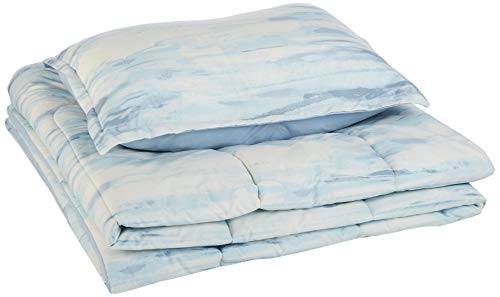AmazonBasics Comforter Set - Soft, Easy-Wash Microfiber - Twin/Twin XL, Blue Watercolor