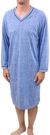 Classic Men's Nightshirt Long Sleeve Checked