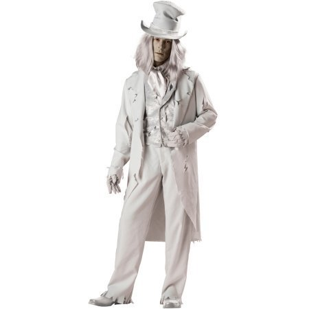 InCharacter Costumes Men's Ghostly Gent Costume, Gray, -