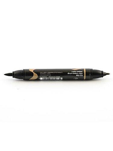 Prismacolor Premier Double-Ended Brush Tip Markers light umber 172 [PACK OF 6 ]