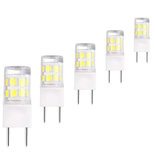 LED G8 Light Bulb 2.5 Daylight White,Length 37MM, G8 Base Bi-pin Xenon JCD Type LED 120V 20W Halogen Replacement Bulb for Under Counter Kitchen Lighting.Pack of 5 (Daylight White)