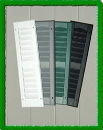 Outdoor Play and Storage LOUVERED Shutter 9X30 (Pair)