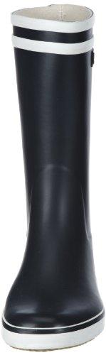 Marine Blu da MALOUINE Scuro Stivali Bianco Blu Donna Blanc Pioggia AIGLE da OwvqB6xC