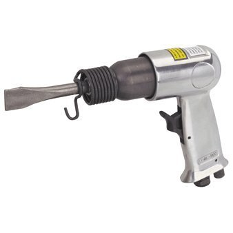 (Air Impact Hammer Kit with Built-in Air Regulator and 2 heavy duty chrome molybdenum chisels)
